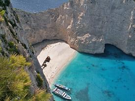 Meeresbucht in Griechenland