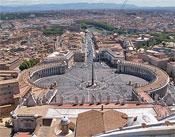 Rom, Blick auf den Petersplatz